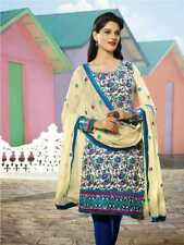 Latest Designer Party Wear cotton embroidery Suit chudidar dress material