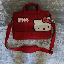 Hello Kitty Red Computer Bag w/ Polka Dots Adjustable/Removable Strap Pockets