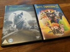 Kids Halloween UK DVD Collection - Frankenweenie & Hotel Transylvania 2 Mint