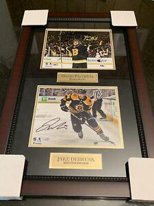 David Pastrnak Jake Debrusk Boston Bruins Signed Framed Photo Collage Fanatics