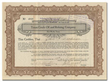 Texas Crude Oil and Refining Company Stock Certificate