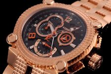 New Mens Renato Vulcan 46mm Swiss Rhonda 5040 Chronograph Rose Gold Watch