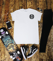 Starbucks Skeleton T Shirt Tumblr Hipster Unisex Gift Festival Coffee Metal