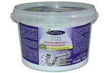 AQUA CLEAN PUR Rohrreiniger 3kg m. AKTIV Sauerstoff Pulver Perlen Abflußreiniger