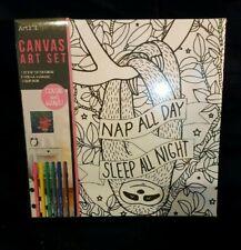 Art 101 Sloth Canvas Set