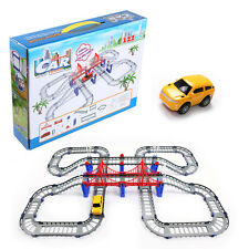 122 Piece Battery Operated Car Track Building Set Adventurous Play Set Kids Toys