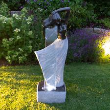 Beleuchteter LED Springbrunnen Gartenbrunnen Zimmerbrunnen 117x40x28cm