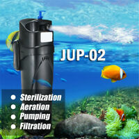 5W UV Sterilizer Submersible Oxygen Pump Filter Water Cycle Aquarium Fish Tank~