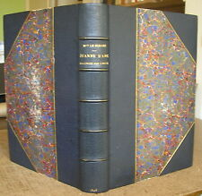 LE NORDEZ JEANNE D'ARC RACONTEE PAR L'IMAGE 1898 DEMI-MAROQUIN A COINS HISTOIRE