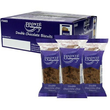 Bronte Double Chocolate Chip Biscuits 24x60g Twin Pks Best Before End March 21