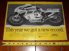1983 YAMAHA KENNY ROBERTS DAYTONA - ORIGINAL 2 PAGE AD