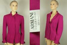 ARMANI COLLEZIONI Italy Fuschia Pink Wool Tailored Jacket Blazer Duster 12