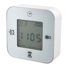 IKEA KLOCKIS Alarm Clock With Timer & Thermometer Function & LCD Display (White)