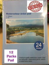 A4 Watercolour Paper Art Artist Sketchbook Sketch Pad Journal Painting PK Of 12