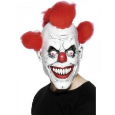 Adult Clown Mask Scary 3/4 Mask Circus Masquerade Costume Fancy Dress Party