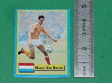 MARCO VAN BASTEN NEDERLAND MILAN AC FOOTBALL 1989-1990 VALLARDI MINI CARD PANINI