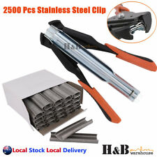 C7 Hog Ring Gun C Clip Auto Feed Fence Fencing Nailer Pliers Wire Ringer 2500 SS