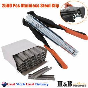 C7 Hog Ring Gun Pliers C Clip Auto Feed Fence Fencing Nailer Wire Ringer 2500 SS