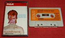 DAVID BOWIE - UK CASSETTE TAPE - ALADDIN SANE - FIRST ISSUE WITH PAPER LABELS