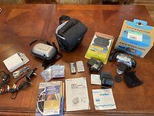 "Sony Handycam Dcr-Dvd301 Camcorder Dvd-Rw 3.5"" Lcd 120x Digital Zoom - bundle"