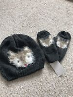 Girls Hat Gloves Mittens4-5-6-7-8Yrs BNWT *cheap Combined Postage*Animal Fox?