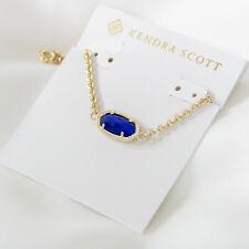 Kendra Scott Elaina Adjustable Chain Bracelet In Cobalt Cats Eye NEW