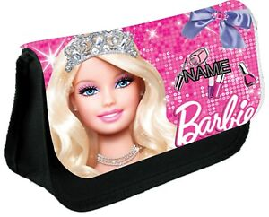 BARBIE  #1 Personalised Pencil Case, make up bag, school any name