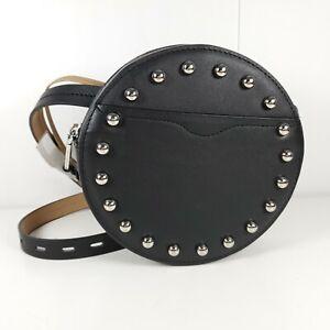 REBECCA MINKOFF  Belt Bag Black Round Leather LOKI Mini - Size Medium