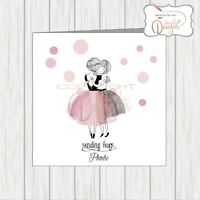 Thinking Of You Sending Love & Hugs Sympathy Card Supportive Friendship Here For