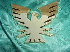 "FORMULA BOAT GOLD BIRD THUNDERBIRD EMBLEM LOGO BADGE !! 5-5/8"" x 5"" NEW !! SAVE"