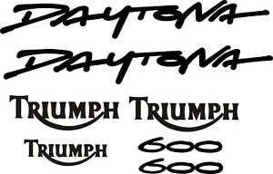 Triumph daytona 600 decal set