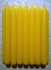15 Non Drip Bistro Style Dinner Candles Approx 21cm Tall Citrus Yellow