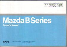 Mazda B Series Original Handbook 1989 petrol & diesel B1600 B2000 B2200 B2600