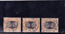 REGNO 1890 UMBERTO SEGNATASSE  3 VAL. USATI SPLENDIDI