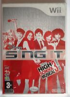 DISNEY SING IT HIGH SCHOOL MUSICAL 3 SENIOR YEAR Wii GAME brand new & sealed !