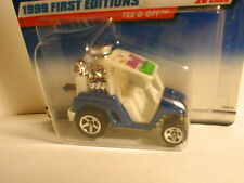 1999 Hot Wheels First Editions #9 TEE`D OFF blue & white variation  golf cart