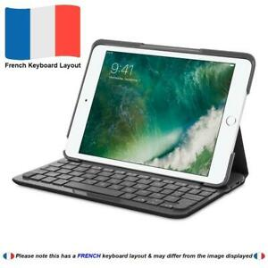 Logitech Black Canvas Protective Folio Case for iPad Air 2 with FRENCH Keyboard