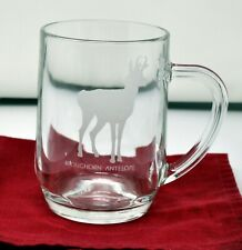 Vintage Abercrombie & Fitch Wildlife etched Beer Pint glasses