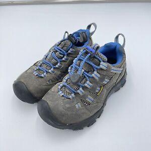 Keen Toddler Grey & Blue Alamosa Gargoyle Waterproof Hiking Shoes Size 11
