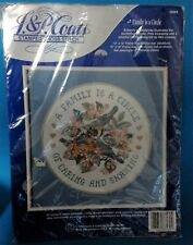 J+P Coats 23009 Stamped Cross Stitch Kit A Family Is A Circle Of Caring Sharing