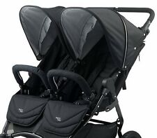 Valco 2017 NEO Twin Lite Stroller in Ink Black Fabric With EVA Wheels Brand New!