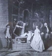 The Signboard at Gersaint, LEFT, Jean-Antoine Watteau, Magic Lantern Glass Slide