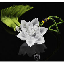 Special Business Gift Lotus Flower Car Hanging Decor Pendant Ornament Crystal