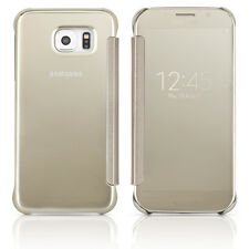 Samsung Galaxy S6 S-View Flip Cover Case - Clear / Silver OEM Original