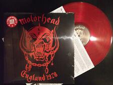 MOTORHEAD - ENGLAND 1978 RED VINYL Iron Horse On Parole White Line Fever Lemmy