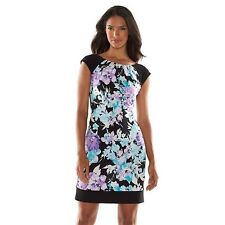 Brand New Ronni Nicole Floral Pleated Shift Dress-Women's Sz 10(NWT) Ships Free