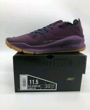 NEW Mens Sz 11.5 Under Armour Curry 4 Low Merlot 3000083-500 Purple Sport Sneake