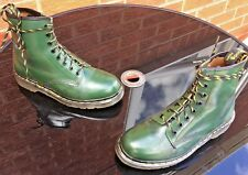 Vintage Dr Martens 1460 racing green leather boots UK 7 EU 41 Made in England