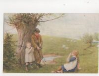 Plants We Play With Willow by HR Robertson 1919 Art Postcard 097b