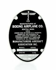 Boeing B-29 Superfortress, Repro Data Plate (Also stamped for B-17G)  DPL-0102